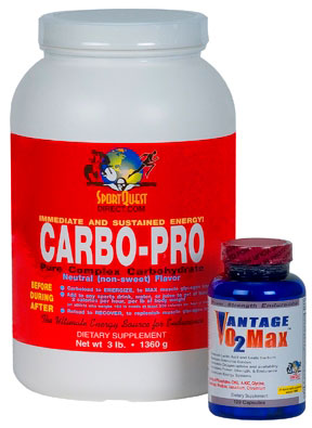 POWER PAK:  1 CASE CARBO-PRO Packets (12 units) +   1 VO2Max (150 Caps)